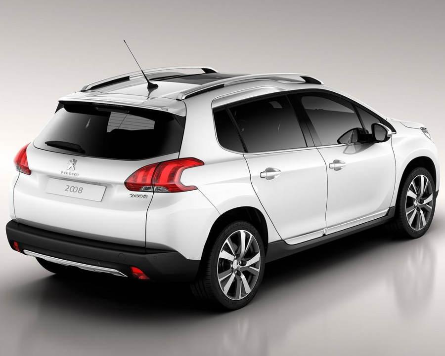 задняя часть Peugeot 2008 2014 года