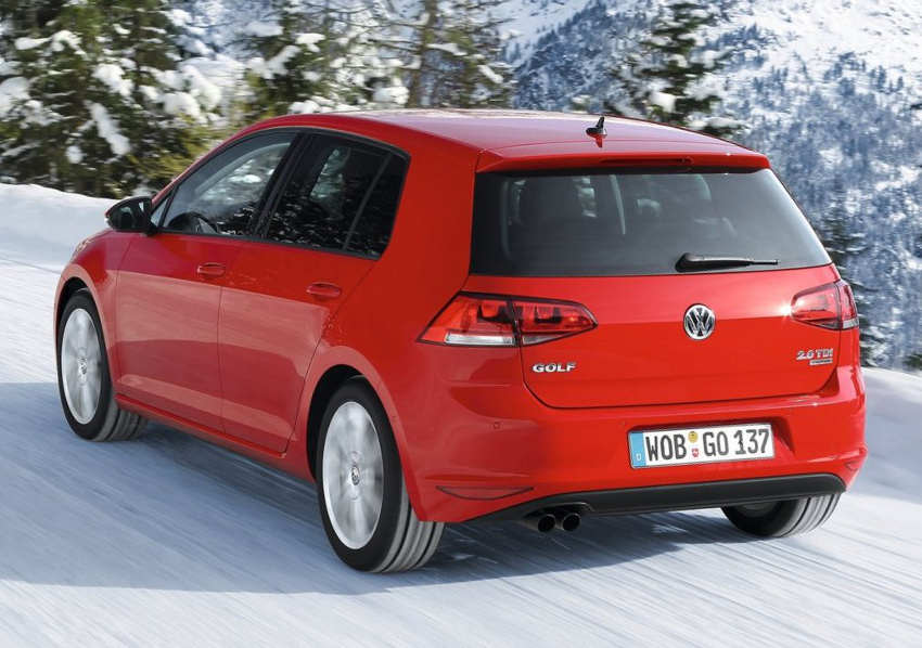 задняя часть Volkswagen Golf 4Motion 2014 года