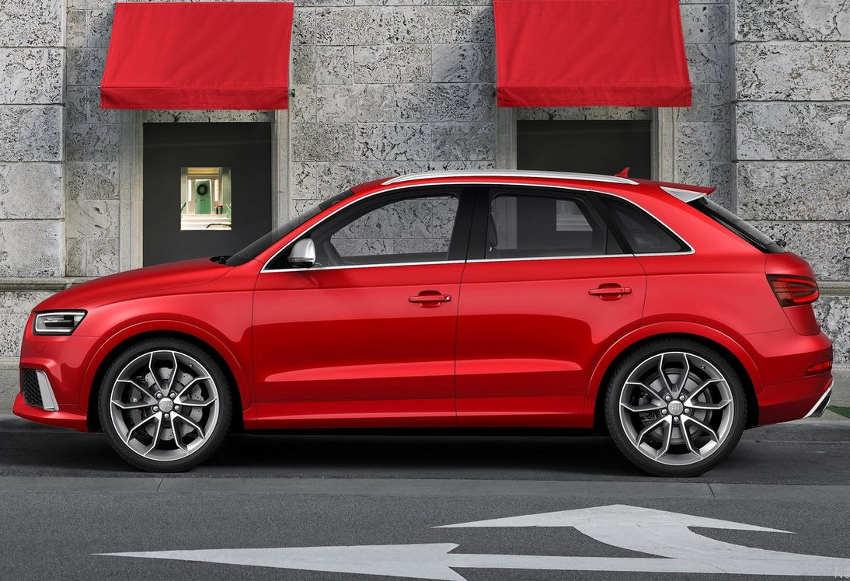 фото Audi Q3 RS 2014 сбоку