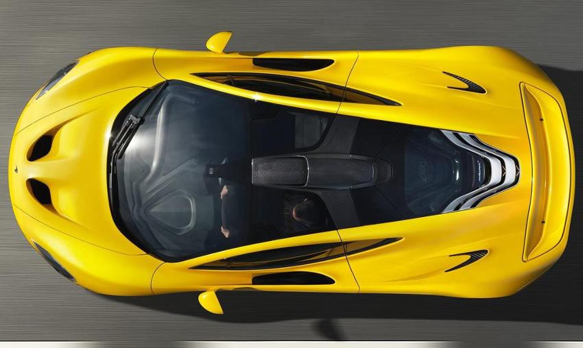 фото McLaren P1 2014 сверху