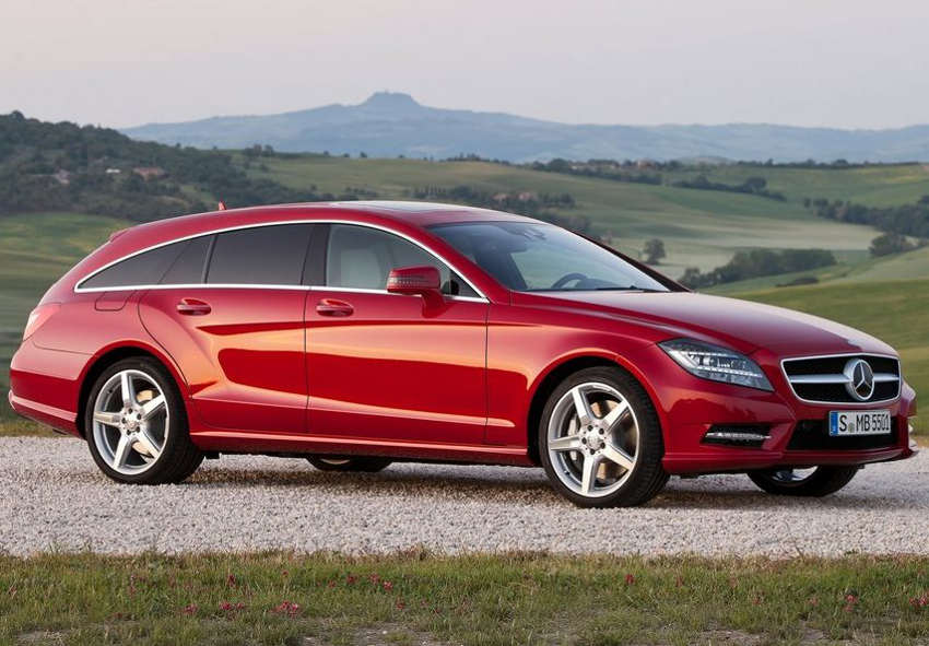 фото Mercedes CLS Shooting Brake 2013 сбоку