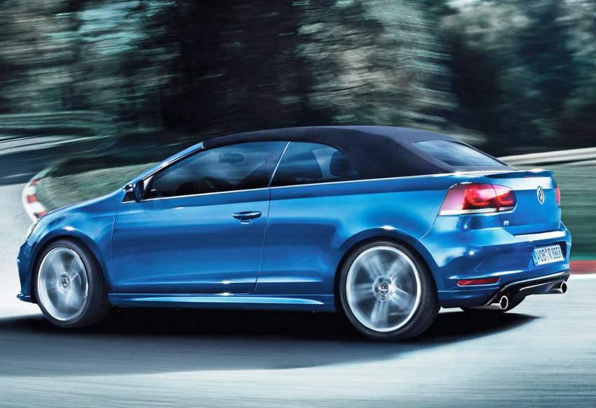 фото кабриолета Volkswagen Golf R 2014 сбоку