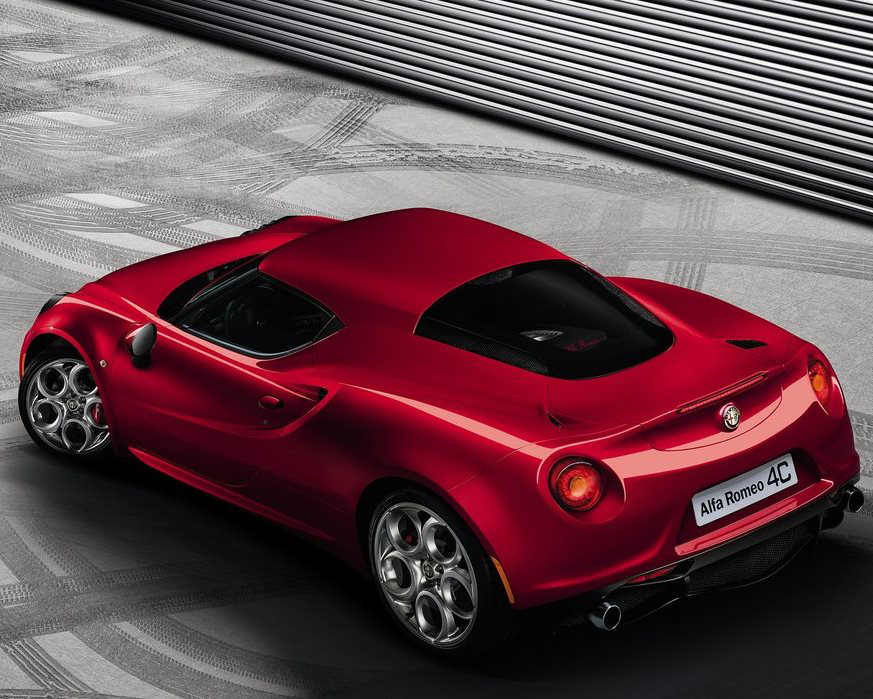 задняя часть Alfa Romeo 4C 2014