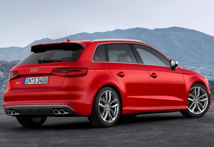 задняя часть Audi S3 Sportback 2014