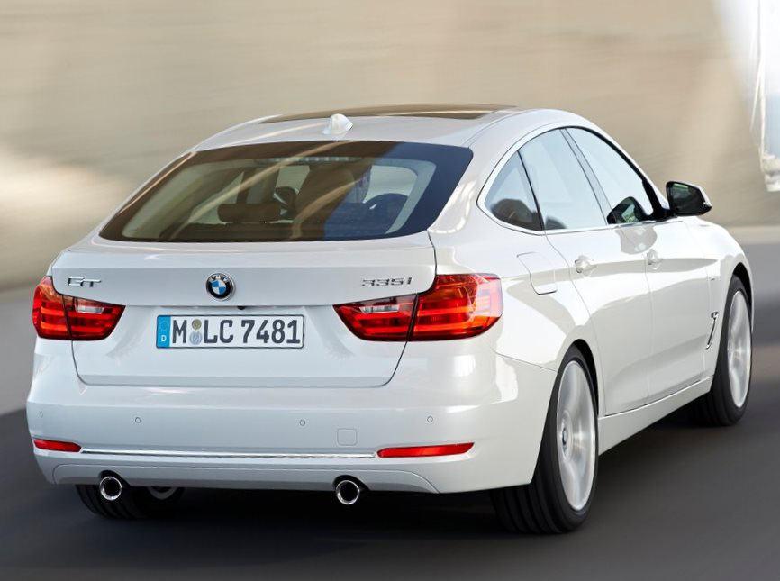 задняя часть BMW 3-Series Gran Turismo 2014