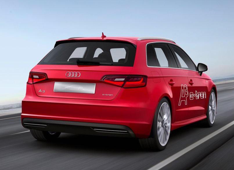 задняя часть концепта Audi A3 e-tron 2013