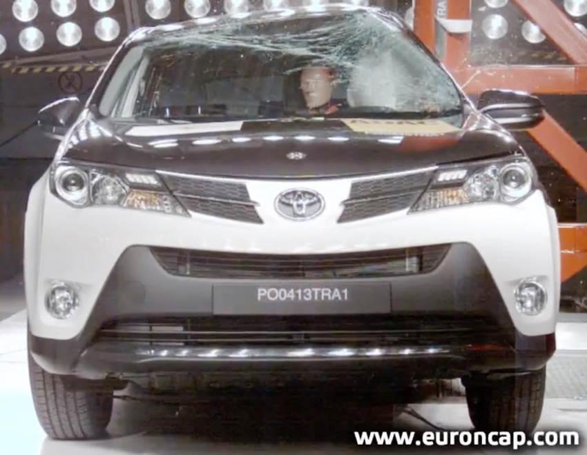 Краш-тест Toyota RAV4 2013 EuroNCAP
