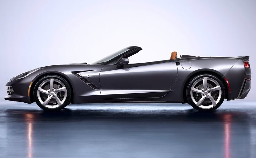 фото Chevrolet Corvette C7 Stingray Convertible 2014 сбоку
