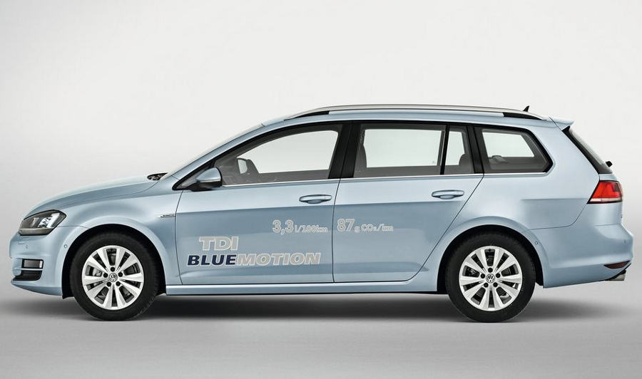 фото Volkswagen Golf Variant 2014 сбоку