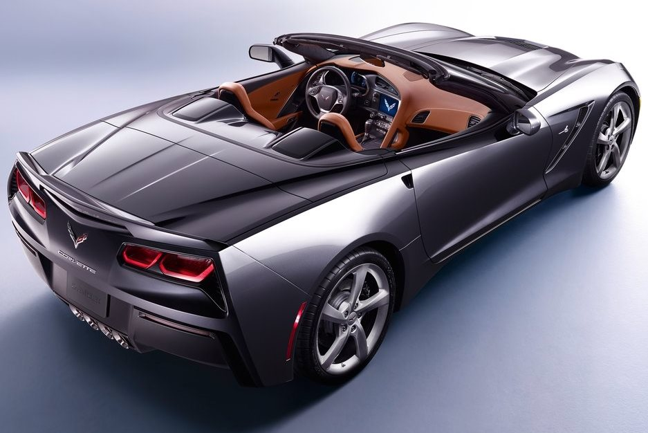 задняя часть Chevrolet Corvette C7 Stingray Convertible 2014