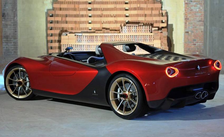 задняя часть Ferrari Sergio 2013