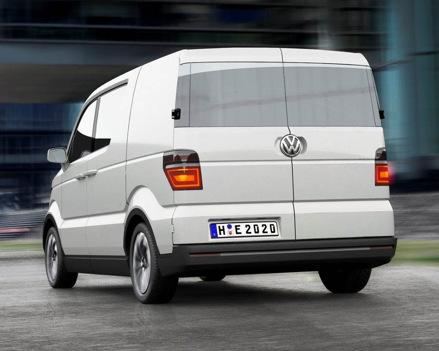 задняя часть Volkswagen e-Co-Motion 2013