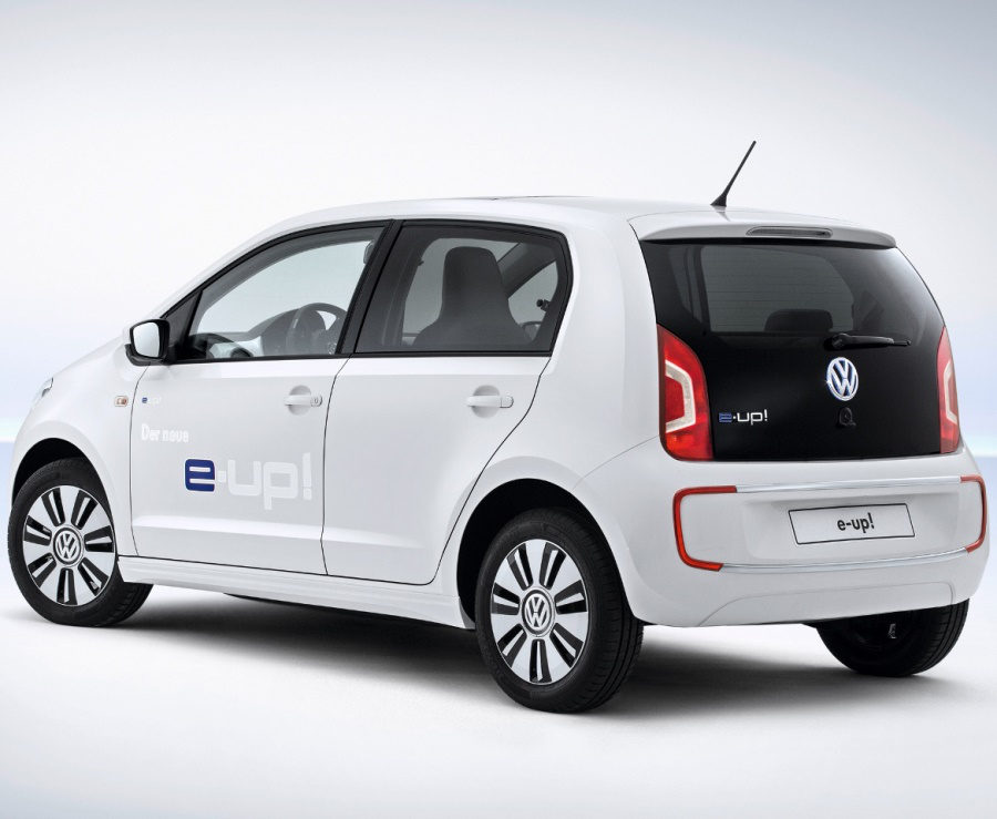 задняя часть Volkswagen e-Up 2014