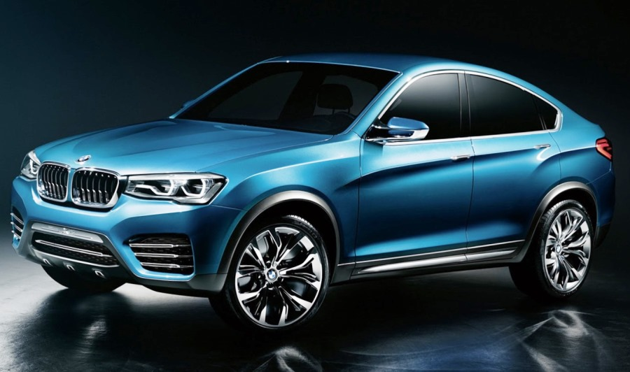 фары и бампер BMW X4 Concept 2014
