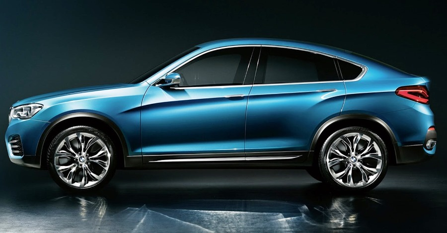 фото BMW X4 Concept 2014 сбоку
