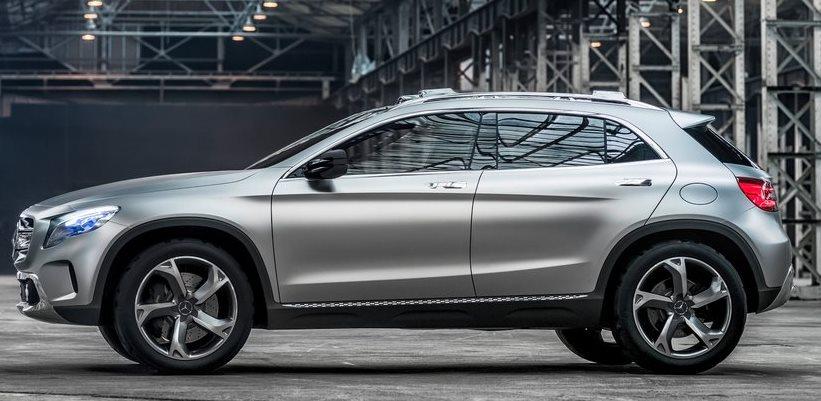 фото Mercedes GLA Concept 2013 сбоку