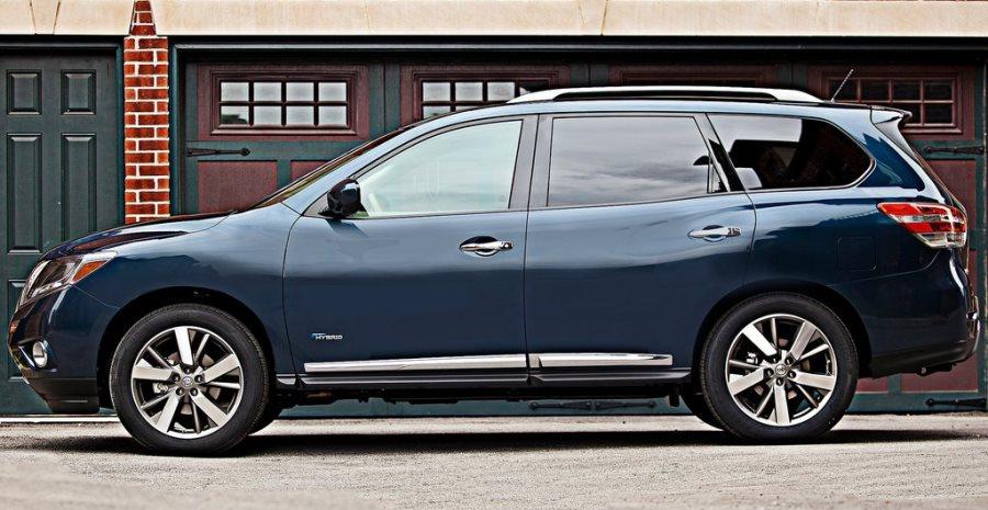 фото Nissan Pathfinder Hybrid 2014 сбоку