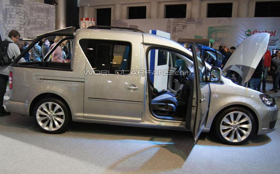 фото Volkswagen Caddy Pick-Up Concept 2013 сбоку