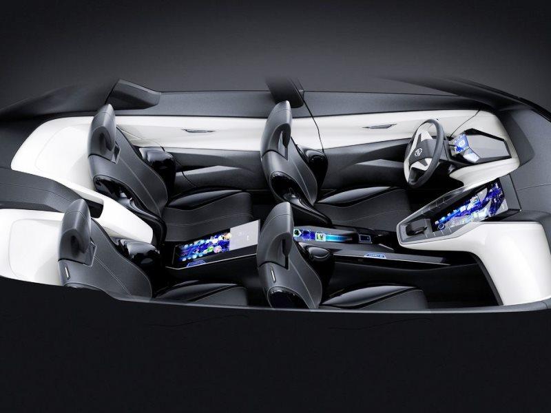 интерьер концепта Nissan Friend-ME 2013