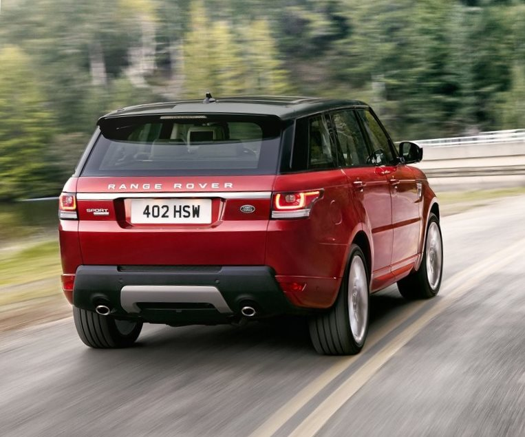 задняя часть Land Rover Range Rover Sport 2014