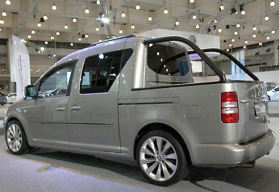задняя часть концепта Volkswagen Caddy Pick-Up 2013