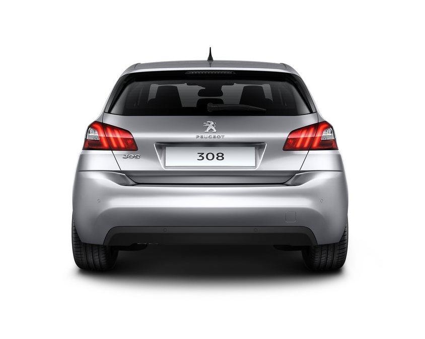 задняя часть Peugeot 308 2014