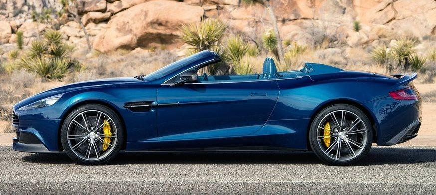 фото Aston Martin Vanquish Volante 2014 сбоку