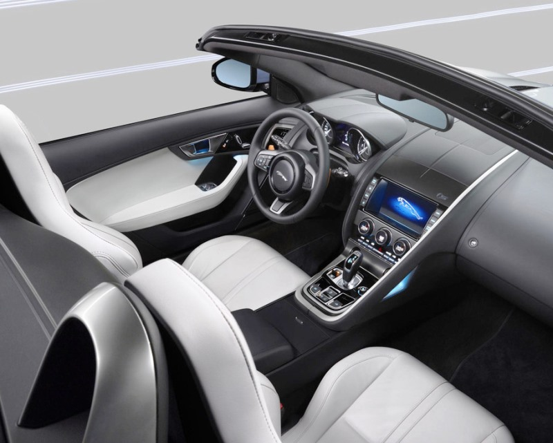 салон Jaguar F-Type 2014