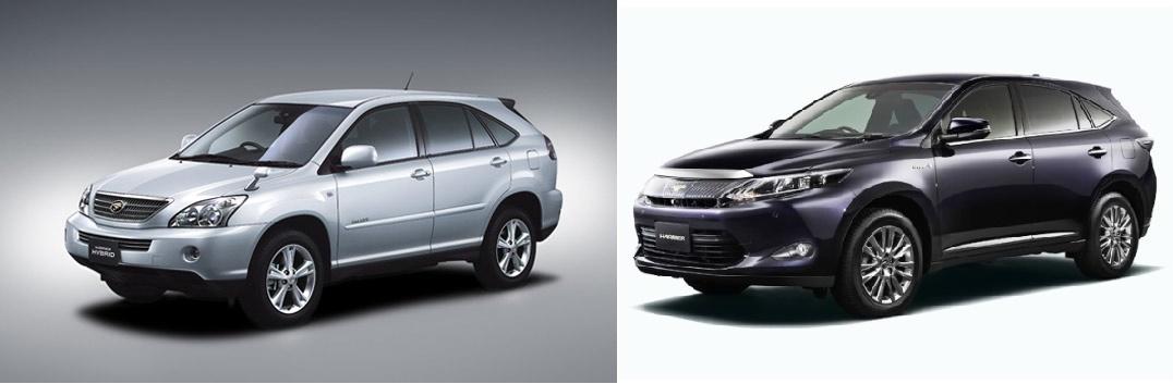 Toyota Harrier 2007 и 2014 - изменения