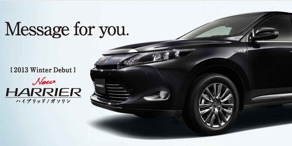 ары и бампер Toyota Harrier 2014