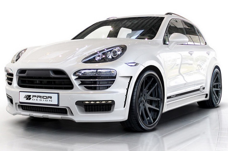 белый Porsche Cayenne 2013 от Prior Design