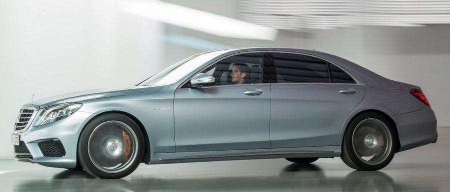 фото Mercedes S63 AMG 2014 сбоку