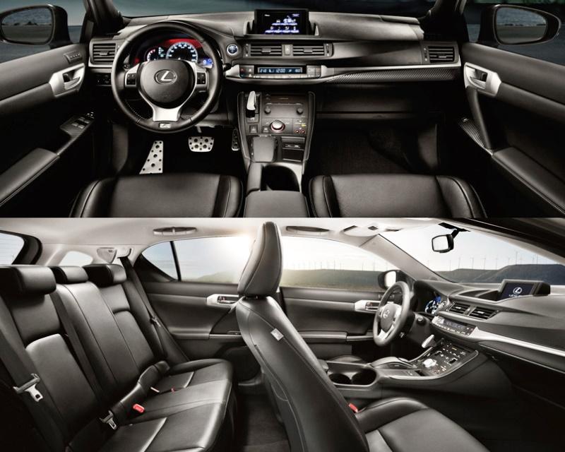 интерьер Lexus CT200h F-Sport 2013