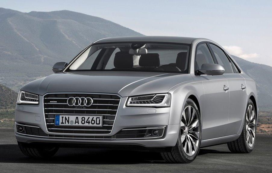 фары и бампер Audi A8 2014