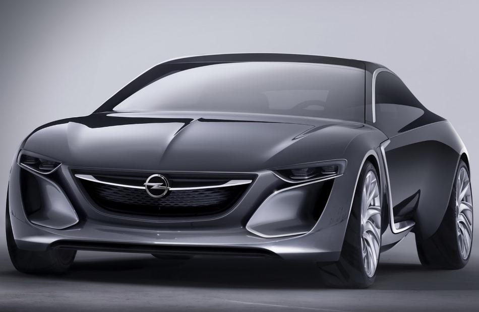 фары и бампер Opel Monza Concept 2013