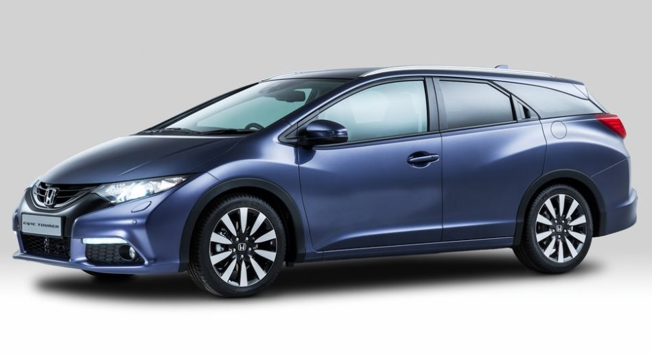 фото универсала Honda Civic Tourer 2014 сбоку