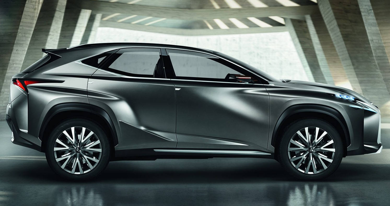фото Lexus LF-NX Concept 2013 сбоку