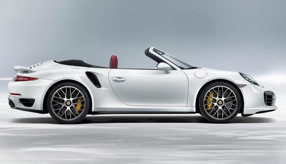 фото Porsche 911 Turbo S Кабриолет 2014 сбоку