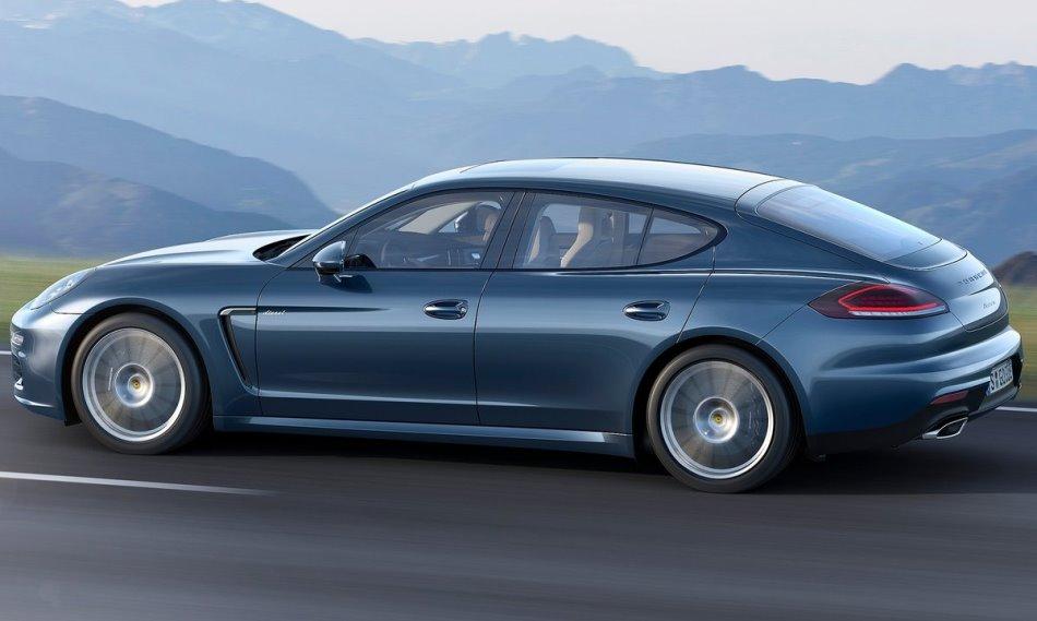 фото дизельного Porsche Panamera 2014 сбоку