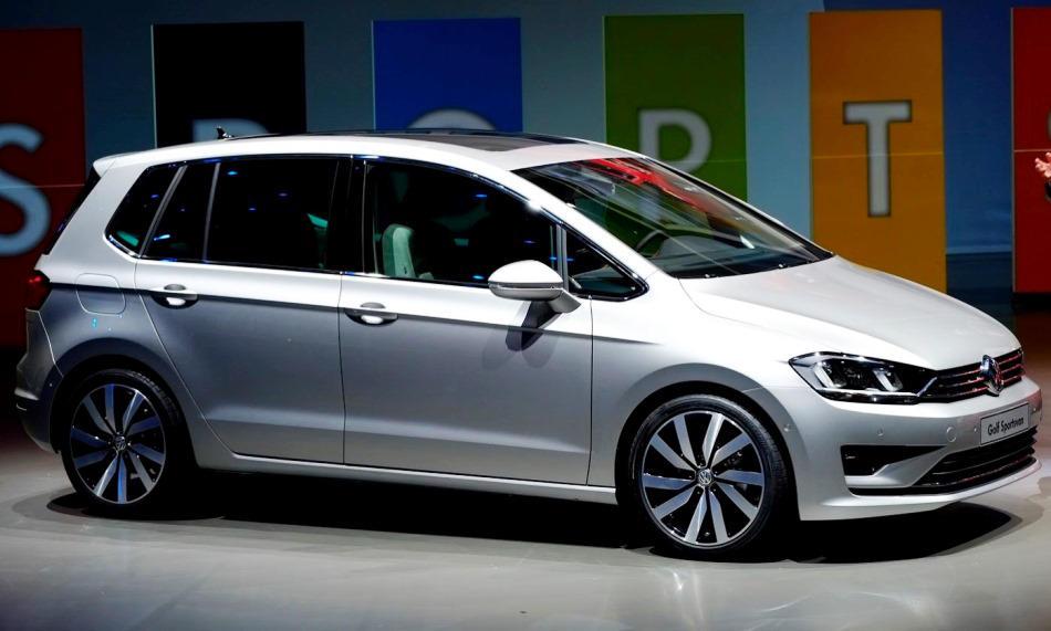 фото концепта Volkswagen Golf Sportsvan 2013 сбоку