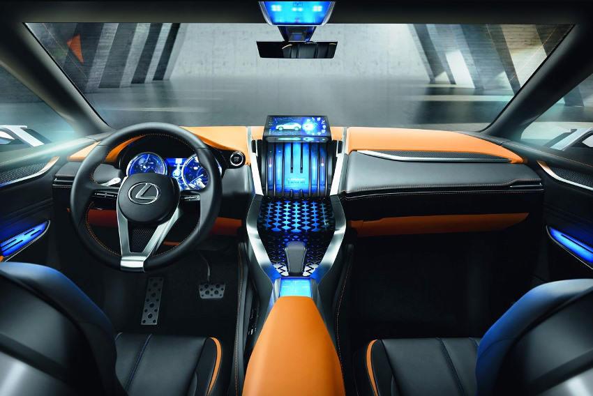 салон концепта Lexus LF-NX 2013