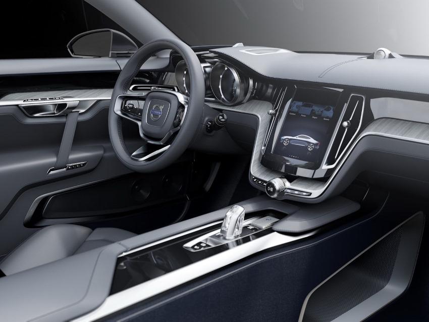 салон концепта купе Volvo 2013