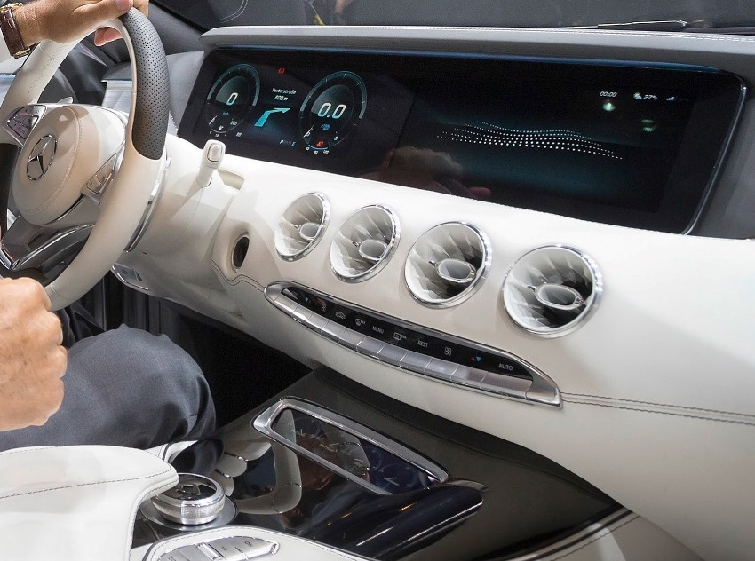 центральная консоль Mercedes S-Class Coupe 2013