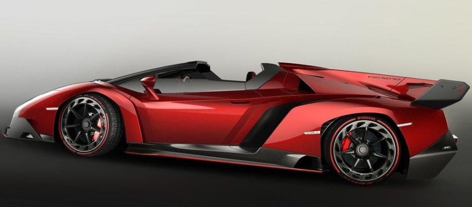 фото Lamborghini Veneno Roadster 2014 сбоку