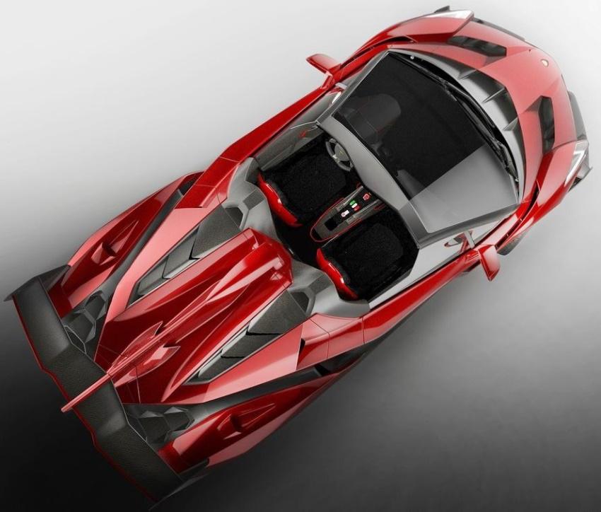 фото родстера Lamborghini Veneno 2014 сверху