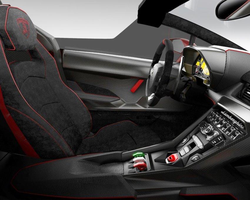 салон Lamborghini Veneno Roadster 2014 года