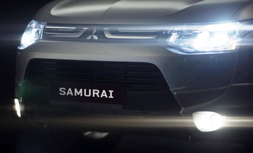 фары и бампер Mitsubishi Outlander Samurai 2013