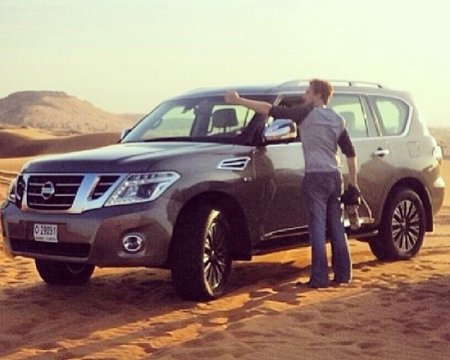 фары и бампер Nissan Patrol 2014