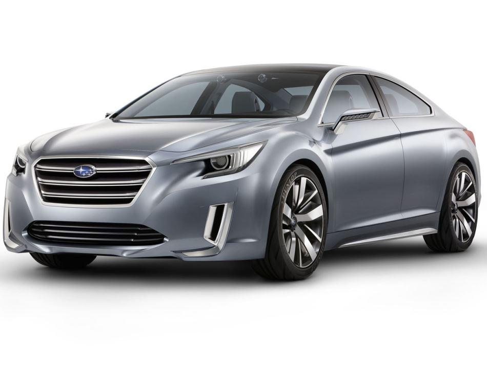 фары и бампер концепта Subaru Legacy 2014