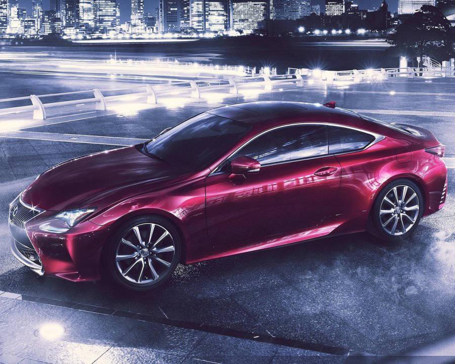 фото Lexus RC сбоку